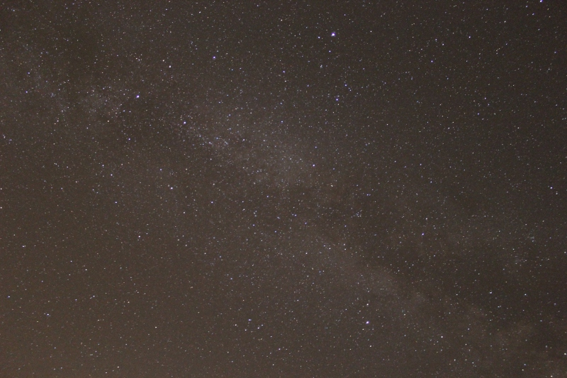 "Milky Way, ISO 3200, 18mm, f/3.5, 62"""