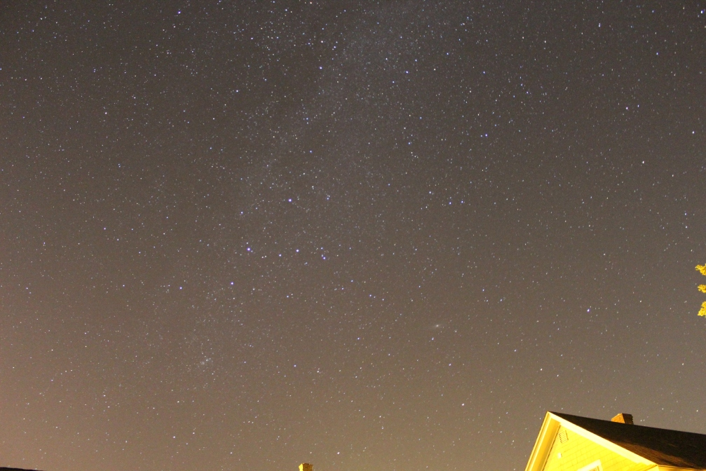 """Constellation Cassiopeia and the Andromeda Galaxy, ISO 3200, 18MM, F/3.5, 30"""""""