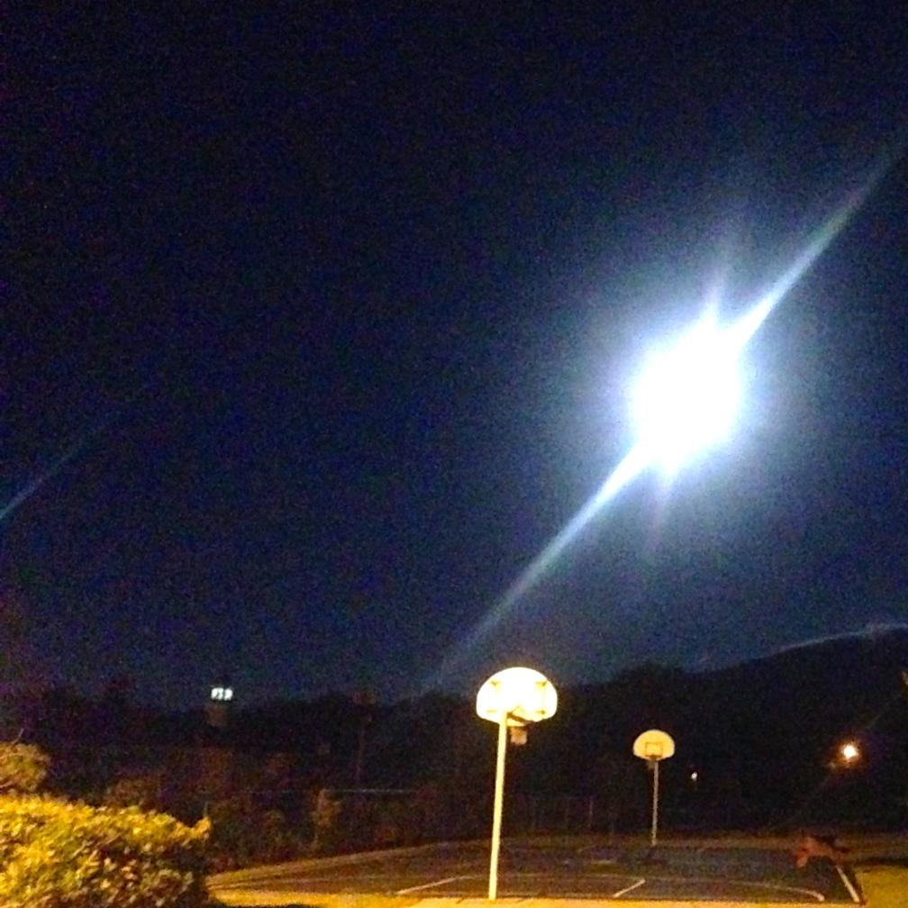 Full moon over Gorham, NH.