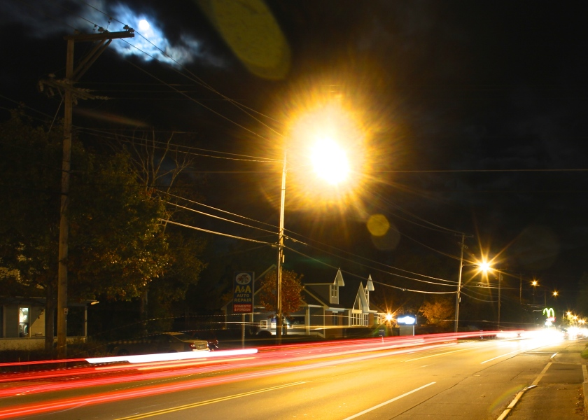 U.S. Route 2/Main Street, Gorhman, N.H., ISO 100, f/7.1, 6 second exposure