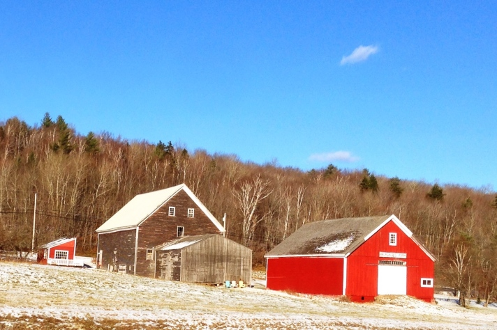 Barns, Route 2, Jefferson, NH.