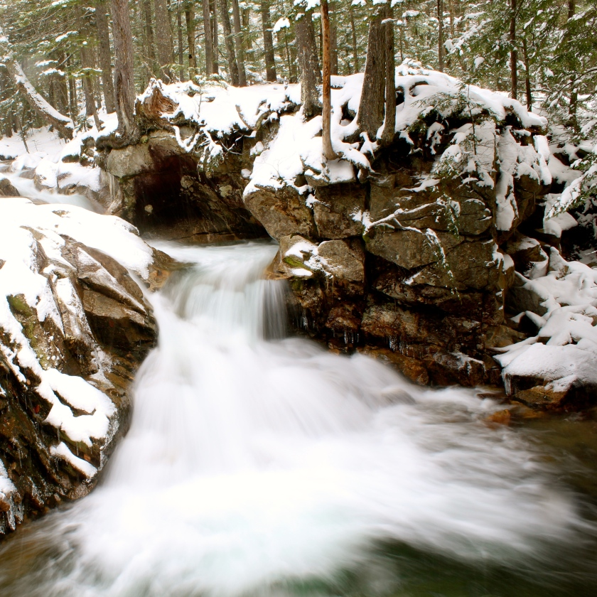 Falls at The Basin, Franconia Notch, NH.