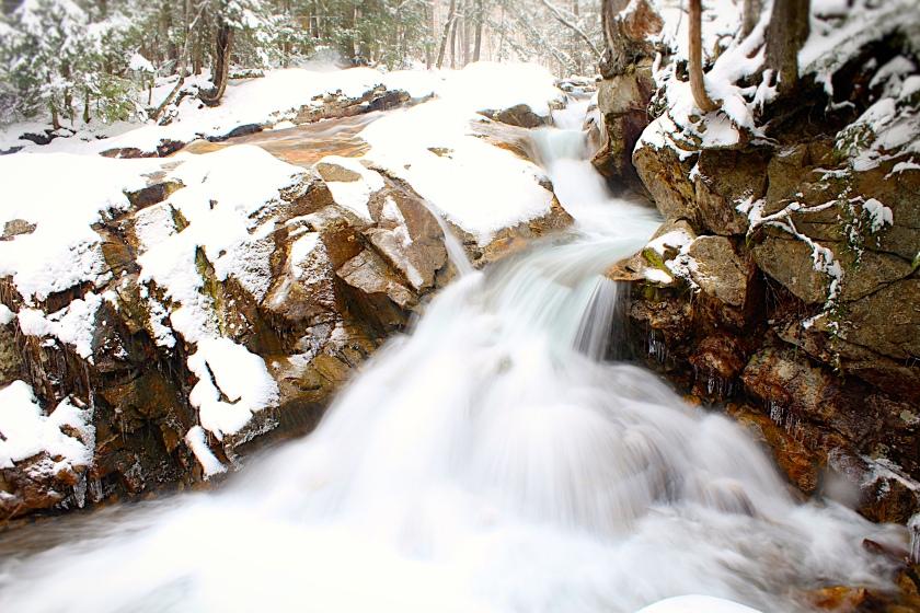 Falls at The Basin, Franconia Notch, NH.