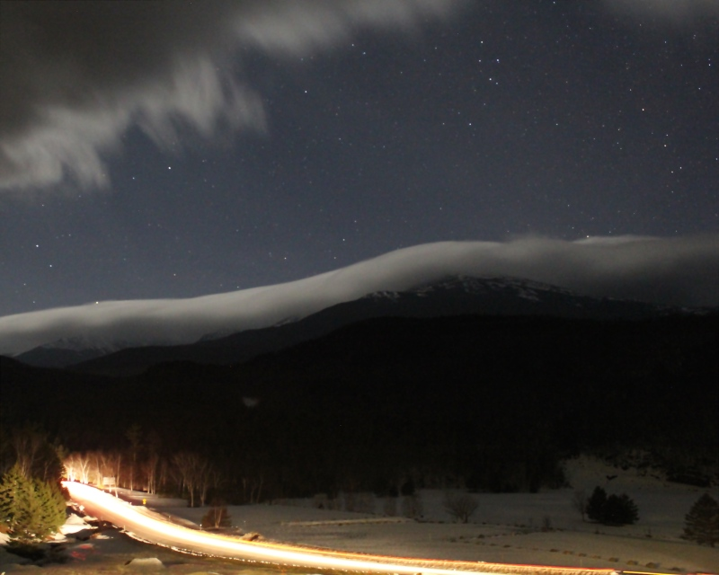 NH Route 16, Pinkham Notch, Coos County, NH; background, Mt. Washington.