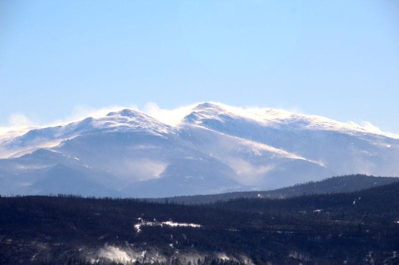 Mt. Adams and Mt. Madison from Berlin, NH.