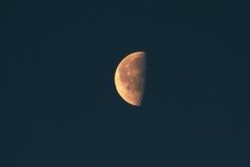 Third quarter moon, Gorham, NH
