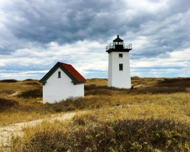 Lighthouse and outbuilding, Provincetown, Mass.