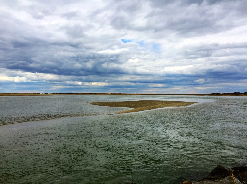 Rapidly rising tide, Provincetown, Cape Cod, MA.