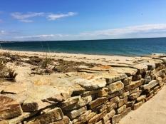 Beach wall, Truro, Cape Cod, MA.