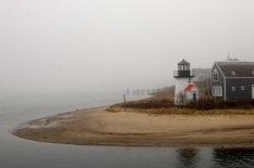 Our foggy departure: Leaving Hyannis