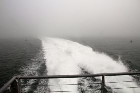 Outbound jet ferry, en route to Nantucket Island.