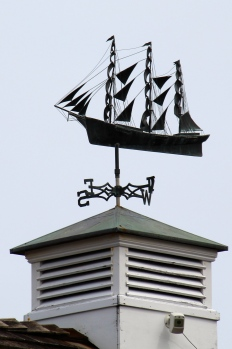 Ship weather vane, Nantucket Island.