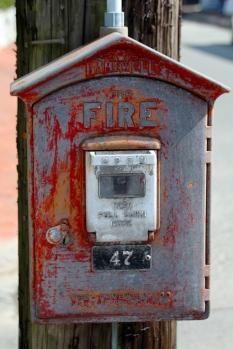 Streetside fire alarm, Nantucket Island.