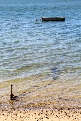Tied up boat, Martha's Vineyard, MA.