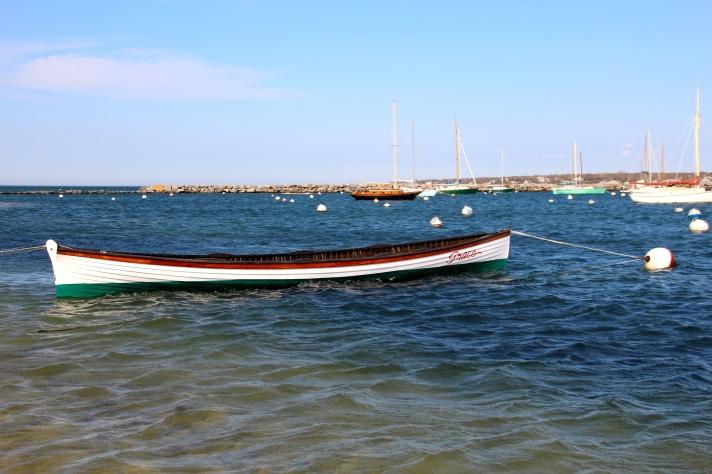 Moored boat, Martha's Vineyard, MA.