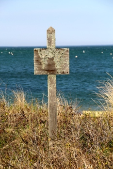 Weathered sign, Martha's Vineyard, MA.