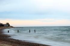 Stormy beach, Falmouth, MA.