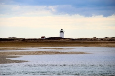 tidal flats along breakwater to Wood End Lighthouse, Provincetown, Cape Cod, MA.