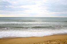 Breaking waves, eastern shore of Cape Cod, MA.