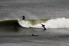 Surfers, eastern shore, Cape Cod, MA.