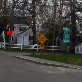 Thickly settled neighborhood, Chatham, Cape Cod, MA.