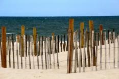 Beach fence, Dennis, Cape Cod, MA.