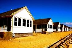 Beach houses, Truro, Cape Cod, Mass., April 2015