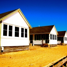 Beach houses, Truro, Cape Cod, Mass., April 2015