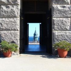 Door, Pilgrim Monument, Provincetown, Cape Cod, MA.