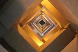 Interior of Pilgrim Monument, looking up.
