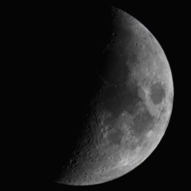 Waxing crescent moon, Gorham, NH