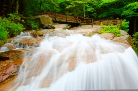 Waterfall, Flume Gorge Sate Park, Franconia Notch, NH
