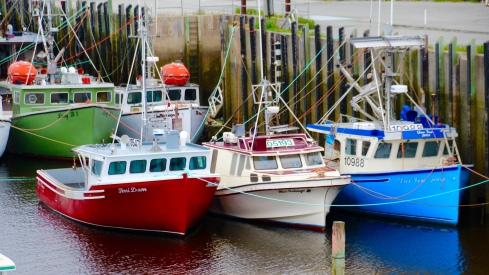 Fishing boats on the Bay of Fundy, Nova Scotia
