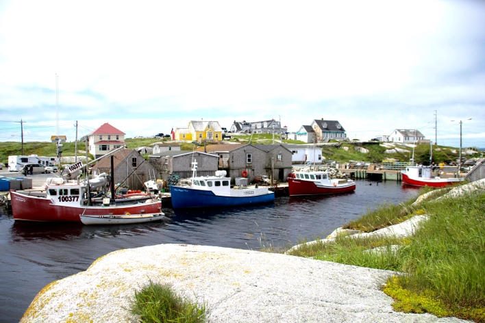 Fishing boats, Peggys Cove, NS