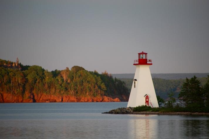 Kidston Island Lightouse from Baddeck, Nova Scotia