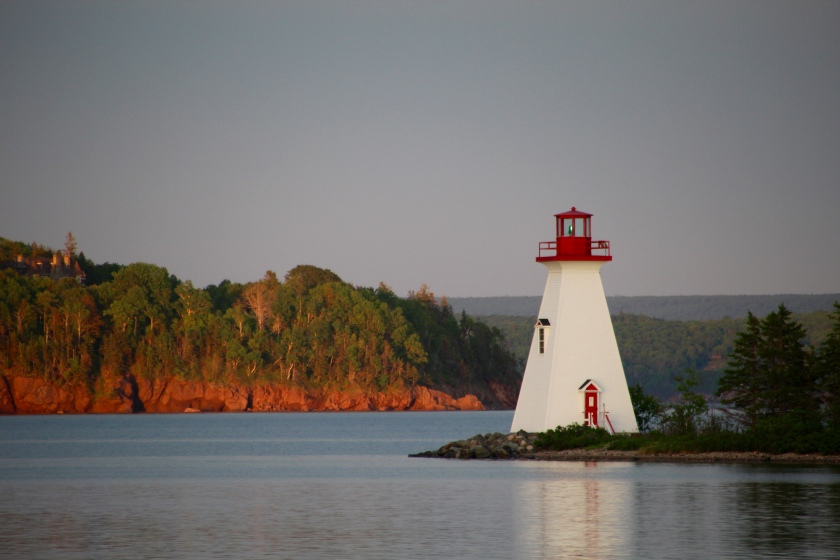 Kidston Island Lightouse from Baddeck, Nova Scotia