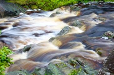 Rapids above Still Brook Waterfall, Cape Breton Island, Nova Scotia