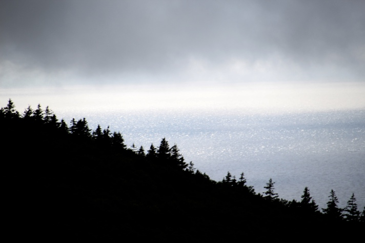 Gulf of St. Lawrence, looking west from cliffs west of Pleasant Bay, Nova Scotia