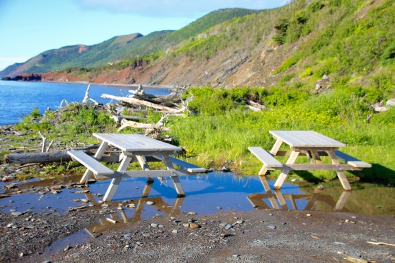Picnic tables, Cape Breton Island, NS