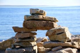 Stacked rocks, Cape Breton Island, NS