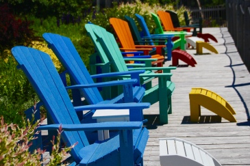Adirondack chairs, St. Andrew, NB