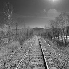 Railroad tracks, Gorham, N.H., April 2016