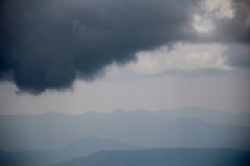 Low clouds from summit of Mt. Washington, NH (6,289 '/1,917 m)