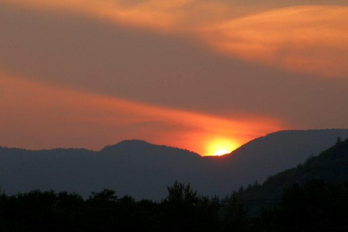 Sunset over White Mountains, Gorham, NH