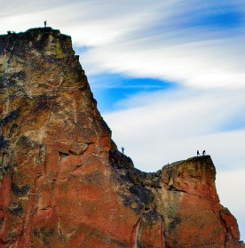 Climbers on Smith Rock, Central Ore.