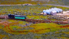 Cog railway train, Mt. Washington summit, NH