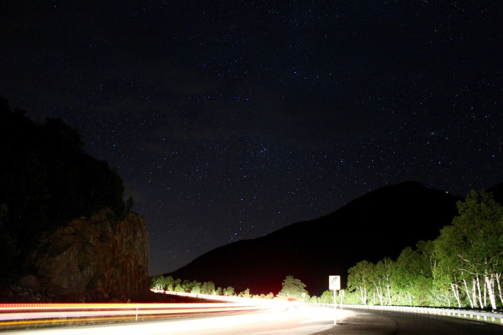 NH Route 16, looking north, 30 second exposure.