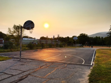 Schoolyard basketball court, Gorham, NH