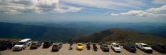 Cars parked at Mt. Washington summit, N.H.