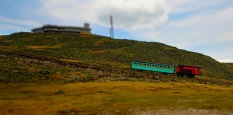 Mt. Washington Cog Railway train, near summit of Mt. Washington, N.H.